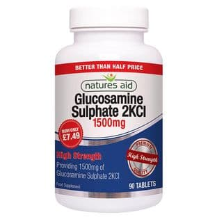 Natures Aid Promo Packs Glucosamine Sulphate - 1500mg - 90 Tabs